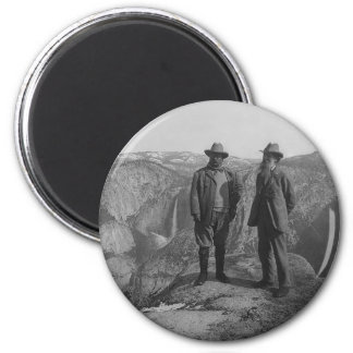 Theodore Roosevelt and John Muir on Glacier Point Magnet