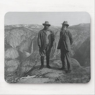 Theodore Roosevelt and John Muir on Glacier Point Mousepads