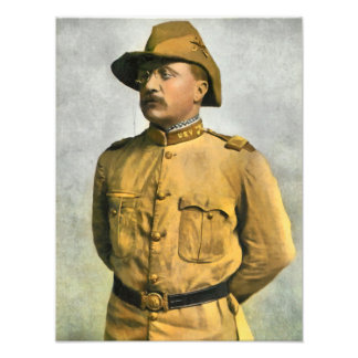 THEODORE ROOSEVELT AS A ROUGH RIDER PHOTO PRINT