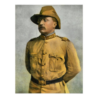 THEODORE ROOSEVELT AS A ROUGH RIDER POSTERS