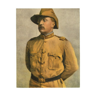 THEODORE ROOSEVELT AS A ROUGH RIDER WOOD PRINTS