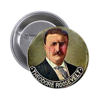 Theodore Roosevelt - botón Pin
