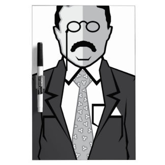 Theodore Roosevelt cartoon Dry Erase Board