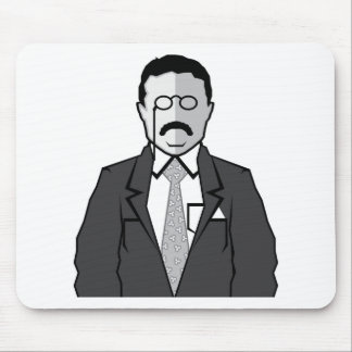 Theodore Roosevelt cartoon Mouse Pad