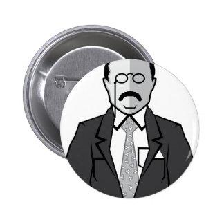 Theodore Roosevelt cartoon Pinback Button