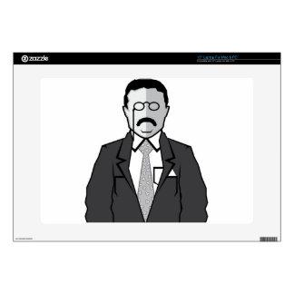 "Theodore Roosevelt cartoon Skin For 15"" Laptop"