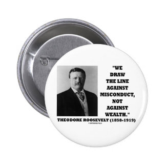 Theodore Roosevelt contra riqueza de la mala condu Pin