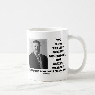 Theodore Roosevelt contra riqueza de la mala condu Taza De Café