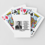 Theodore Roosevelt Dare Mighty Things Quote Bicycle Playing Cards