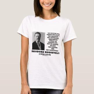 Theodore Roosevelt desdeña al Voluptuary del Playera