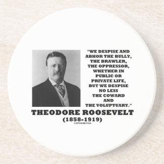 Theodore Roosevelt desdeña al Voluptuary del Posavasos Manualidades