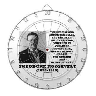 Theodore Roosevelt Despise Bully Coward Voluptuary Dartboard