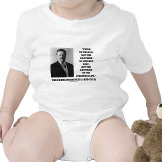 Theodore Roosevelt Doctrine Strenuous Life Baby Bodysuits