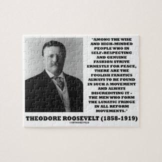 Theodore Roosevelt Fanatics Lunatic Fringe Quote Jigsaw Puzzle