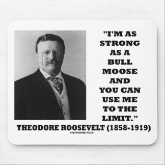 Theodore Roosevelt I'm As Strong As A Bull Moose Mouse Pad