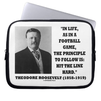 Theodore Roosevelt In Life Football Game Principle Computer Sleeve
