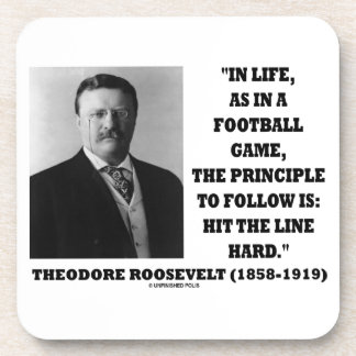 Theodore Roosevelt Life Football Game Hit Line Beverage Coaster