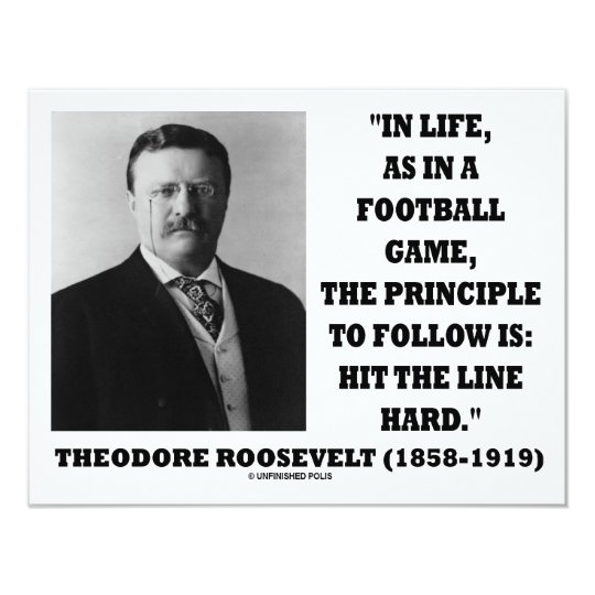 Theodore Roosevelt Life Football Game Hit Line Card