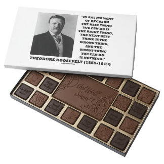 Theodore Roosevelt Moment Of Decision Best Thing 45 Piece Box Of Chocolates