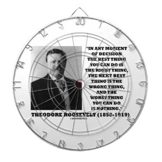 Theodore Roosevelt Moment Of Decision Best Thing Dart Board