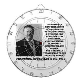 Theodore Roosevelt Morally Treasonable Quote Dart Board