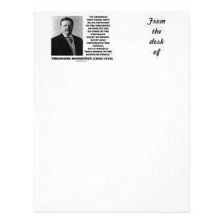 Theodore Roosevelt Morally Treasonable Quote Customized Letterhead