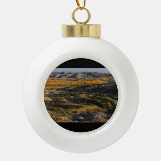Theodore Roosevelt National Park Ceramic Ball Christmas Ornament