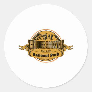 Theodore Roosevelt National Park, North Dakota Classic Round Sticker