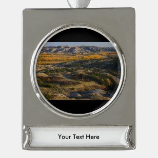 Theodore Roosevelt National Park Silver Plated Banner Ornament