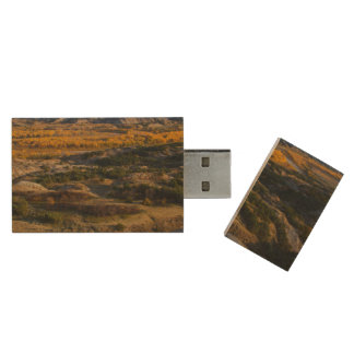 Theodore Roosevelt National Park Wood Flash Drive