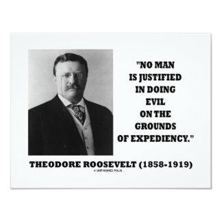 Theodore Roosevelt ningún hombre justificado en Invitación 10,8 X 13,9 Cm