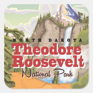Theodore Roosevelt Park vintage travel poster Square Sticker