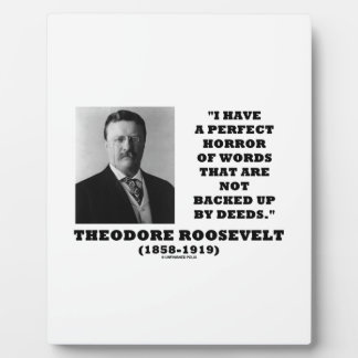Theodore Roosevelt Perfect Horror Words Deeds Plaque