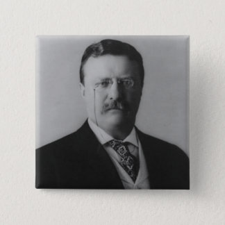 Theodore Roosevelt Portrait Button