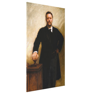 THEODORE ROOSEVELT Portrait By John Singer Sargent Stretched Canvas Prints