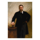THEODORE ROOSEVELT Portrait By John Singer Sargent Print