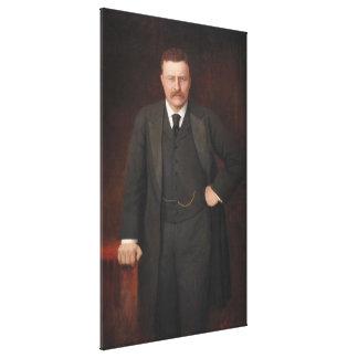 THEODORE ROOSEVELT Portrait by Ritter von Krumhaar Stretched Canvas Print