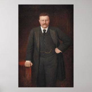 THEODORE ROOSEVELT Portrait by Ritter von Krumhaar Poster