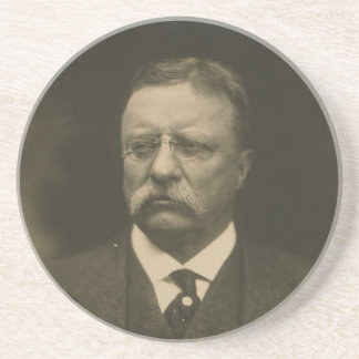 Theodore Roosevelt Portrait by the Pach Brothers Coaster