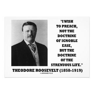 Theodore Roosevelt predica vida vigorosa de la doc Comunicados Personalizados
