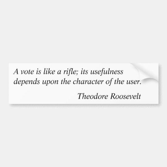 Theodore Roosevelt Quotes 5 Bumper Sticker