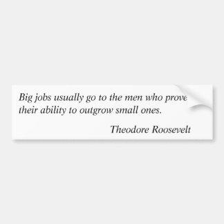 Theodore Roosevelt Quotes 9 Car Bumper Sticker