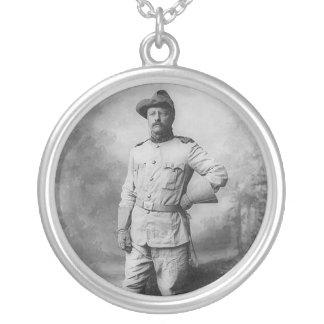 Theodore Roosevelt Round Pendant Necklace