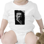 Theodore Roosevelt  silhouette Baby Bodysuits