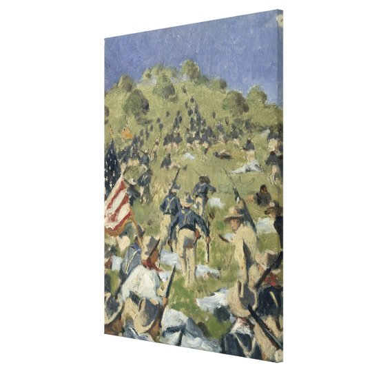 Theodore Roosevelt taking the Saint Juan Canvas Print