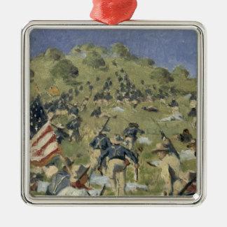Theodore Roosevelt taking the Saint Juan Metal Ornament