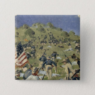 Theodore Roosevelt taking the Saint Juan Pinback Button