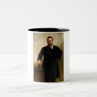 Theodore Roosevelt Taza De Café De Dos Colores