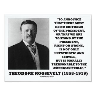 Theodore Roosevelt Treasonable American Public Card