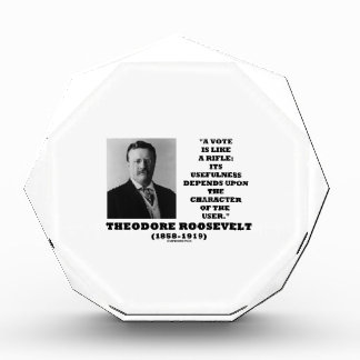 Theodore Roosevelt Vote Is Like A Rifle Character Acrylic Award